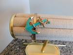 TURQUOISE AND GOLD ANCHOR CUFF BRACELET