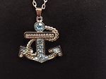 SILVER ANCHOR WITH AQUA ACCENTS