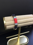 WHITE ROPE BRACELET W/ RED/LT BLUE/NAVY ACCENTS