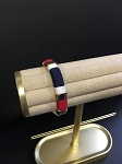 WHITE ROPE BRACELET WITH NAVY & RED ACCENT
