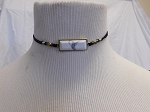 WHITE HOWLITE BAR CHOKER