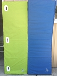 12' Long Lime Green And Blue Mat Group